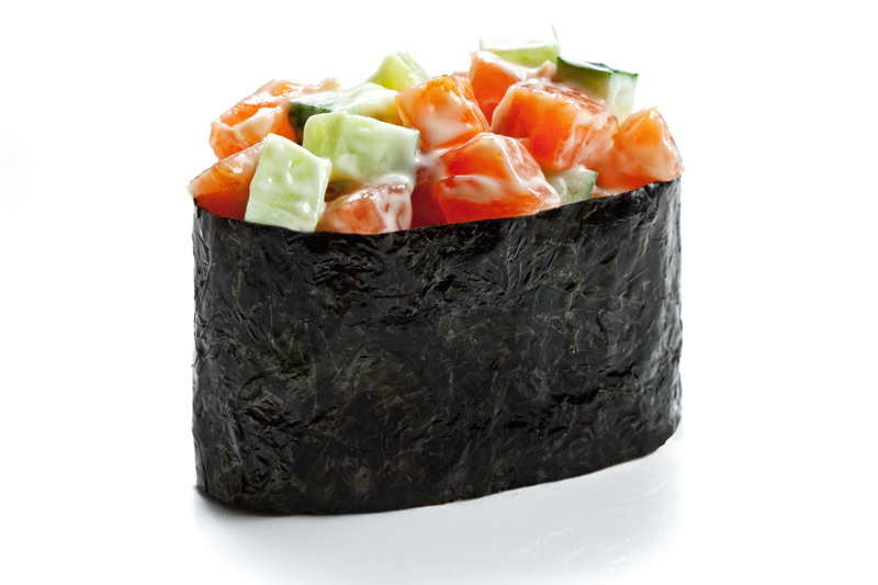 smoked salmon with cucumber 40 g smoked salmon cucumber tobiko caviar ...